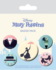 MARY POPPINS PACK 5 BADGES
