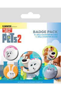 COMME DES BÊTES 2 PACK 5 BADGES FOR PET'S SAKE
