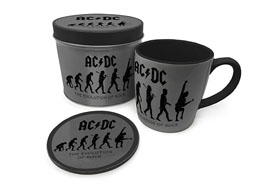 AC/DC MUG AVEC SOUS-VERRE THE EVOLUTION OF ROCK