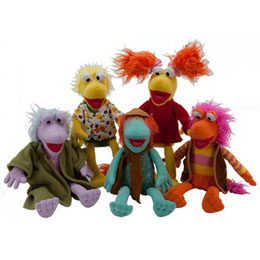 PACK 5 PELUCHES FRAGGLE ROCK 27CM