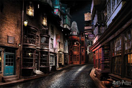 POSTER HARRY POTTER DIAGON ALLEY 61 X 91 CM