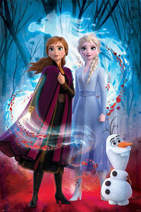 LA REINE DES NEIGES 2 POSTER GUIDED SPIRIT 61 X 91 CM