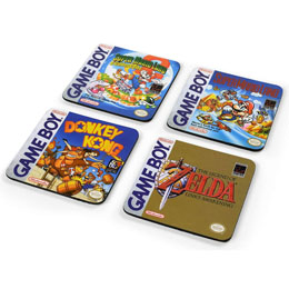 Gameboy pack 4 sous-verres Classic Collection