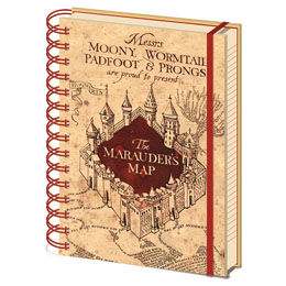 HARRY POTTER CAHIER À SPIRALE A5 MARAUDERS MAP