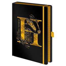 HARRY POTTER CARNET DE NOTES PREMIUM A5 HUFFLEPUFF FOIL