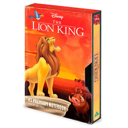 CARNET DE NOTES PREMIUM A5 DISNEY LE ROI LION  CIRCLE OF LIFE VHS