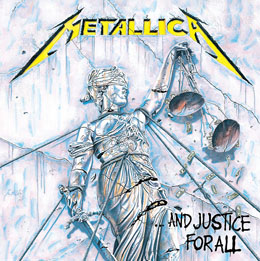 METALLICA TABLEAU TOILE ENCADRÉ JUSTICE FOR ALL 40 X 40 CM