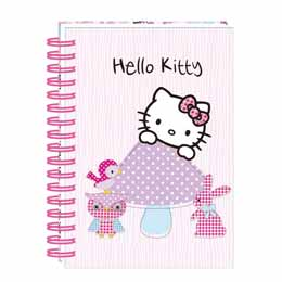 Carnet Hello Kitty à spirales