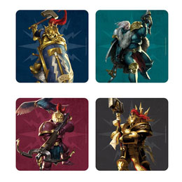 WARHAMMER AGE OF SIGMAR PACK 4 SOUS-VERRES 3D STORMCAST