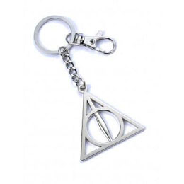 HARRY POTTER PORTE-CLÉS DEATHLY HALLOWS (PLAQUÉ ARGENT)