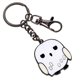 HARRY POTTER PORTE-CLÉS PLAQUÉ ARGENT CUTIE COLLECTION HEDWIG