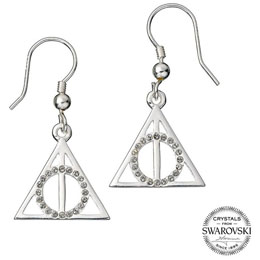 HARRY POTTER X SWAROVKSI BOUCLES D´OREILLES DEATHLY HALLOWS