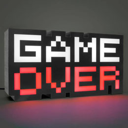 Photo du produit GAME OVER VEILLEUSE 8-BIT 30 CM Photo 1