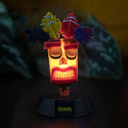 CRASH BANDICOOT VEILLEUSE 3D ICON AKU AKU 10 CM