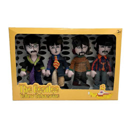 THE BEATLES PACK 4 PELUCHES YELLOW SUBMARINE BAND MEMBERS 23 CM