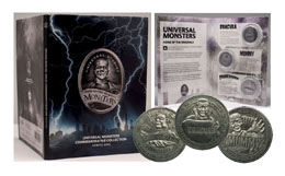 UNIVERSAL MONSTERS COMMEMORATIVE COLLECTION PACK 3 PIÈCES DE COLLECTION SÉRIE 1