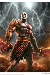 GOD OF WAR LITHOGRAPHIE LIGHTNING 42 X 30 CM