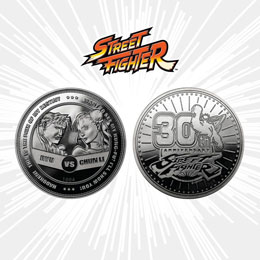 STREET FIGHTER PIÈCE DE COLLECTION 30TH ANNIVERSARY RYU VS CHUN-LI SILVER EDITION
