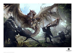 MONSTER HUNTER LITHOGRAPHIE 42 X 30 CM