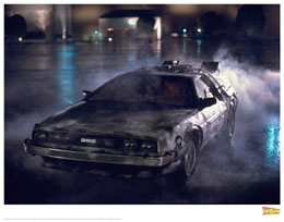 Photo du produit LITHOGRAPHIE RETOUR VERS LE FUTUR DELOREAN 1 35 X 28 CM
