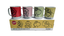 PACK 4 MUGS CERAMIQUE SUPER MARIO BROS