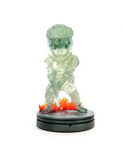 METAL GEAR SOLID STATUETTE PVC SD SOLID SNAKE STEALTH CAMOUFLAGE VER. 20 CM