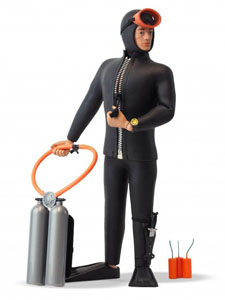 FIGURINE ACTION MAN 50TH ANNIVERSARY SCUBA DIVER 30 CM