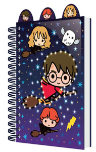HARRY POTTER CARNET DE NOTES LUMINEUX A5 CHIBI CHARACTERS