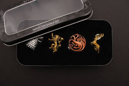 Photo du produit GAME OF THRONES PACK 4 PIN'S MAIN HOUSES Photo 1