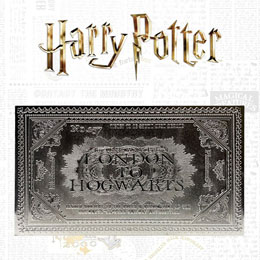 HARRY POTTER RÉPLIQUE HOGWARTS TRAIN TICKET LIMITED EDITION (PLAQUÉ ARGENT)