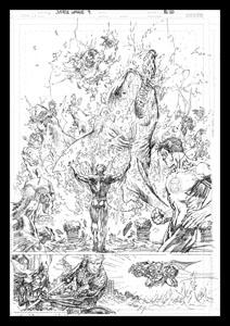 DC Comics lithographie Aquaman Comic Book Art Print 42 x 30 cm