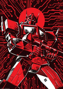 Transformers lithographie Optimus Prime Limited Edition 42 x 30 cm