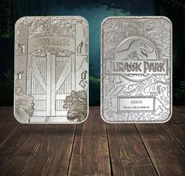 Jurassic Park réplique Metal Entrance Gates (plaqué argent)