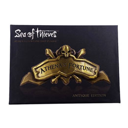 SEA OF THIEVES RÉPLIQUE ATHENA'S FORTUNE SHIP PLAQUE ANTIQUE