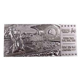 Jurassic Park réplique Ticket Mosasaurus (plaqué argent)