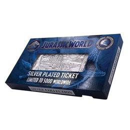 Photo du produit Jurassic Park réplique Ticket Mosasaurus (plaqué argent) Photo 1