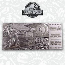Photo du produit Jurassic Park réplique Ticket Mosasaurus (plaqué argent) Photo 2
