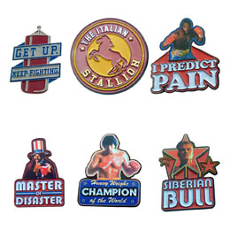 Rocky pack 6 pin's 45th Anniversary Limited Edition