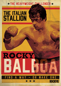 Rocky lithographie Rocky 45th Anniversary 42 x 30 cm