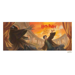 HARRY POTTER LITHOGRAPHIE DEATHLY HALLOWS BOOK COVER ARTWORK LIMITED EDITION 42 X 30 CM