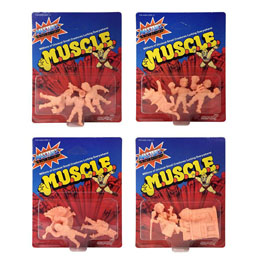LES MAITRES DE L'UNIVERS 4 PACKS DE 3 FIGURINES MUSCLE 4 CM