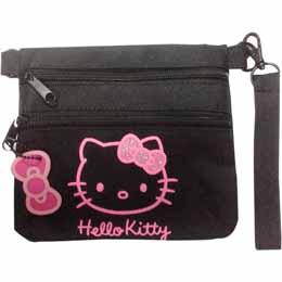 Saccoche Hello Kitty Glitter noire