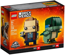 LEGO BRICKHEADZ JURASSIC WORLD FALLEN KINGDOM OWEN ET BLUE