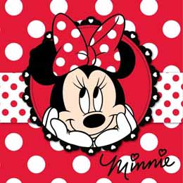Serviette mains DIsney Minnie