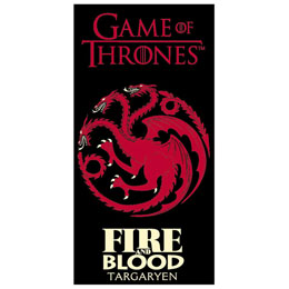 SERVIETTE DE BAIN HBO GAME OF THRONES TARGARYEN