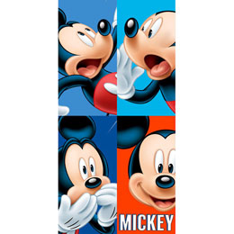 SERVIETTE DE BAIN MICKEY DISNEY FACES