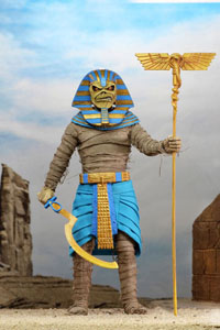 NECA IRON MAIDEN FIGURINE RETRO PHARAOH EDDIE 20 CM