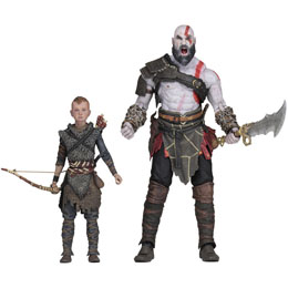 GOD OF WAR (2018) PACK 2 FIGURINES ULTIMATE KRATOS & ATREUS 13-18 CM