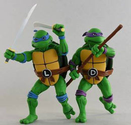 LES TORTUES NINJA PACK 2 FIGURINES LEONARDO & DONATELLO / NECA