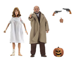 Halloween 2 Le Masque pack 2 figurines Retro Doctor Loomis & Laurie Strode 20 cm